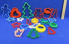 Vintage Cookie Cutters Hearts Flag Star Bear Christmas Dove Bird Lot of 23