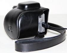 (Nero) Fotocamera Compatto Custodia in Pelle Custodia Borsa per Sony NEX 5r 5t + Cinturino