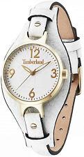 Reloj Mujer TIMBERLAND DEERING 14203LSG-01 de Cuero Blanco
