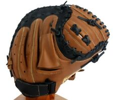 "Franklin Baseball Glove 23299 RHT Catchers Mitt 33"" Premium Cow Leather Tan"