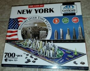 The City Of New York History Over Time Puzzle 4D Cityscape 700+ Pcs