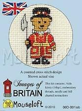 Mouseloft Mini Cross Stitch Kit - Beefeater Teddy, Images of Britain Collection