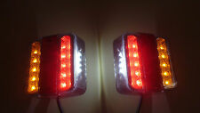 2x 5 Function LED Light Board Lamp Brake Stop Trailer Van Caravan Truck 12V/24V
