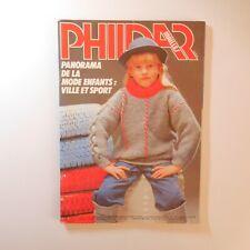 1983 PHILDAR mailles 101 tricot patron couture mode enfant vintage France N6933