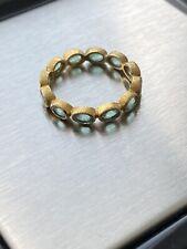 18k Emerald Eternity Ring, Sz 7