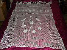 #173 Beautiful Vintage Handmade Curtain
