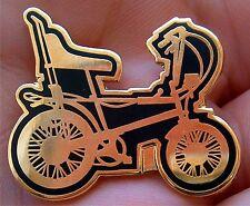 Classy Gold N Black Old School Raleigh Chopper Enamel Pin Badge