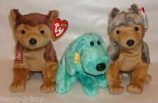 NEW TY  3 Dogs Puppies Courage + Diddley + Sarge Best of Friends  Ideal Gift