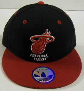 NBA Miami Heat Adidas Fitted 7 Cap Hat NEW!