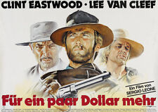 For a few dollars more 1965 Clint Eastwood cult Movie poster print