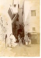 Algérie, Alger, Rue Arabe  Vintage albumen print. Vintage Algeria  Tirage albu