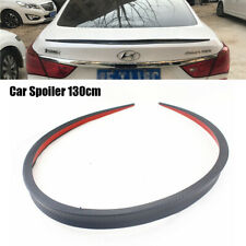 4.26 Ft Car Rear Wing Lip Spoiler Trunk Trim Sticker Decor Rubber Carbon Fiber