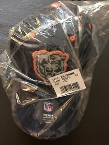 NEW! NFL Chicago Bears Boys 8-20 Structured Flex Fit Cap Hat One Size Blue