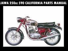 JAWA 250 590 CALIFORNIA III PARTS MANUAL - for 250cc Motorcycle Service & Repair