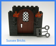 Lego Castle - Door Frame with Stone Pattern,Torches, Keys - 40242 - New Pieces