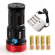 18000LM 9x CREE XML U2 LED SKYRAY Flashlight Torch Lamp Hunting 4x18650+Charger