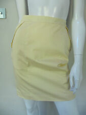 H&M sz 6/XXS/36(also 8) lined pale yellow straight/pencil skirt AS NEW