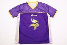 Mens Vintage VIKINGS American Football Jersey Hip-Hop T-Shirt