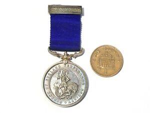19thC Silver Church of England Temperance Society Medal GEORGE & DRAGON #MM10