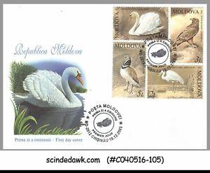 MOLDOVA - 2003 THE RED BOOK OF MOLDOVA / BIRDS - 4V -  FDC