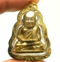 LP NGERN THAI FAMOUS POWERFUL BUDDHA AMULET SIAM LUCKY RICH WEALTH PENDANT GIFT