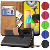 Book Case für Samsung Galaxy M31 Hülle Tasche Flip Cover Handy Schutz Hülle