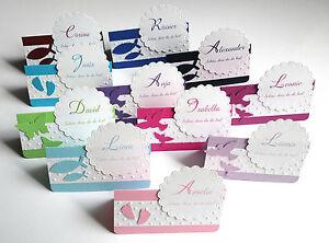 Tischkarten Taufe Kommunion Konfirmation personalisiert in vielen Farben D3