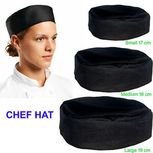 Skull Cap Chefs Catering Round Hats Cook Food Preparation Kitchen Head Covered