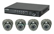 4ch HD-TVI DVR Package, 1080p/720p/analog system, 2 MP gray eyeball dome IR 2TB