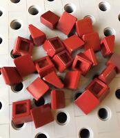 LEGO Dark Red 1x1x2/3 Mini Slopes Roof Tile Bricks 1 X 1 Smooth Finishing New 25