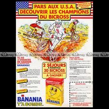 BANANIA & BICROSS MBK 1985 BMX Chocolat Pub Publicité / Original Advert Ad #A623