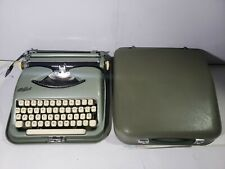 Near Mint Vintage Cole Steel Portable Typewriter Metallic Green w/ Case