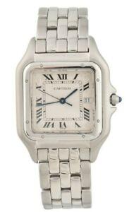 Cartier Panthere 1300 Jumbo Stainless Steel Date Swiss Quartz Ladies Watch