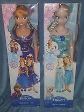"Disney Frozen Princess Elsa & Anna 38"" Set of 2 My Size Dolls Huge Over 3 Ft New"