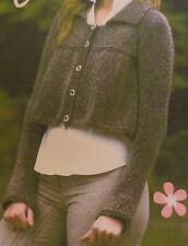 Ladies Jacket Cardigan ...Aran Knitting Pattern ...Using 4mm + 5mm needles
