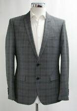 Herren Harry Brown Slim Fit Karo 2pc Anzug in Grau (40r)... - 4634