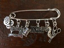 SKEWWERS SEWING (antique silver) KILTPIN/BROOCH