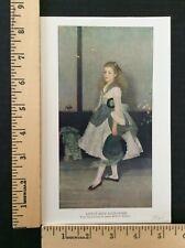 Rare Original VTG 1921 Little Miss Alexander Whistler Girl Color Litho Art Print
