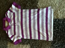 Men's Size XS Lilac/White Striped Polo Shirt From Jack Wills In Excellent Condit