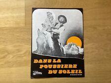 Dossier de presse»DANS LA POUSSIÈRE DU SOLEIL»1971-  Maria SCHELL-  R.BALDUCCI
