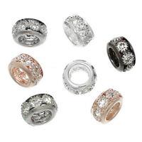 50 Mix DIY European Charms Antiksilber Strass Gravur Spacer Perlen Beads JO