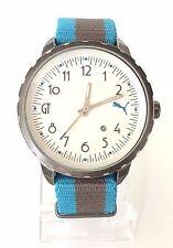Puma Herren Uhr blau grau weiß Textil Datum PU103391001