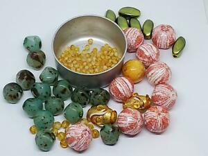 Mixed 165 Vintage Beads Destash Lot Assorted Loose Bead Lot DIY Jewelry Making I