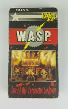 WASP LIVE AT THE LYCENM, LONDON RARE VHS! SONY 1984 EAT ME RAW CONCERT W.A.S.P.