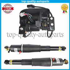 Air Suspension Compressor & Rear Shocks AS2708 For 02-13 GMC CADILLAC CHEVROLET