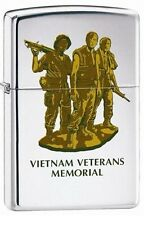 "Zippo Lighter. ""Vietnam Vets Memorial"". No 260. High Polish Chrome Finish! BNIB!"