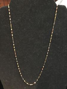 14 karat gold 16 inch necklace -1.1 Grams