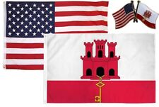 Wholesale Combo Usa & Gibraltar Country 3x5 3'x5' Flag & Friendship Lapel Pin