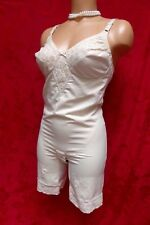 Vintage Girdle Bra Onepiece Slit Bottom Briefer Corselet Panty Long Leg Garters