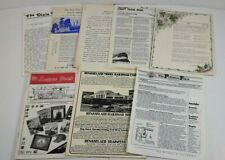 Mixed Lot Of 8 Pcs Model Railroad Newsletter Publications From 1980s 1990s